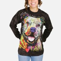 Beware of Pit Bulls Long Sleeve T-shirt | Adult Dog T-Shirts | The Mountain®